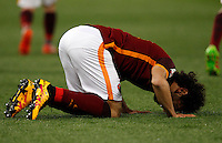 Calcio, Serie A: Roma vs Fiorentina. Roma, stadio Olimpico, 4 marzo 2016.<br /> Roma&rsquo;s Mohamed Salah celebrates after scoring during the Italian Serie A football match between Roma and Fiorentina at Rome's Olympic stadium, 4 March 2016.<br /> UPDATE IMAGES PRESS/Riccardo De Luca