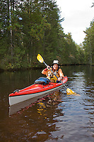 Kayaking along the Oswego River, Wharton State Forest, New Jersey