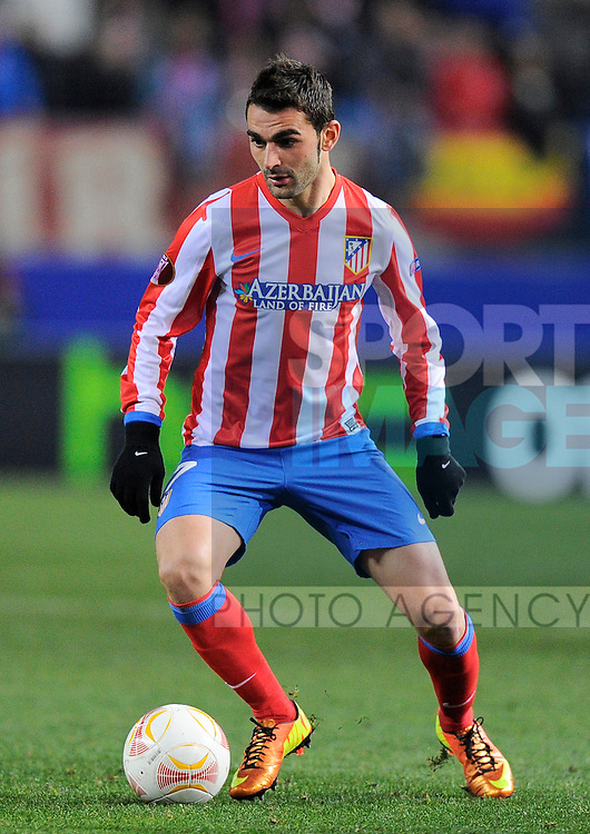 Adrian Lopez of Atletico Madrid - UEFA Europa League Round of 32 - Atletico Madrid vs Rubin Kazam - Vincente Calderon Stadium - Madrid - 14/02/13 - Picture Simon Bellis/Sportimage