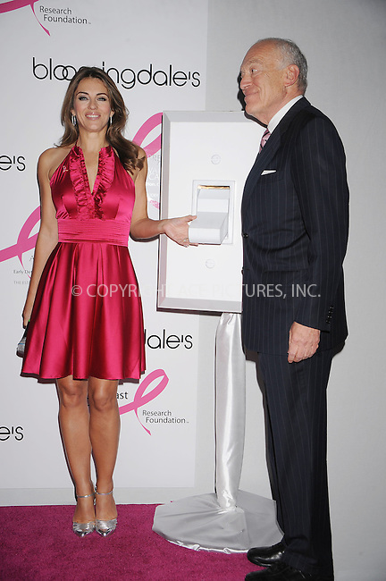 WWW.ACEPIXS.COM . . . . . ....October 2 2008, New York City....Actress Elizabeth Hurley and Chairman of the board at Estee Lauder Leonard Lauder at the 'Illumination of Bloomingdales' and 'Personal Appearance/Shopping Night with Elizabeth Hurley and Marisa Acocella Marchetto' at Bloomingdale's on October 2, 2008 in New York City.....Please byline: KRISTIN CALLAHAN - ACEPIXS.COM.. . . . . . ..Ace Pictures, Inc:  ..(646) 769 0430..e-mail: info@acepixs.com..web: http://www.acepixs.com