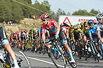 Race leader Red Jersey Miguel Angel Lopez Moreno (COL) Astana and the main contenders with 1km to go to the end of Stage 6 of La Vuelta 2019 running 198.9km from Mora de Rubielos to Ares del Maestrat, Spain. 29th August 2019.<br /> Picture: Colin Flockton | Cyclefile<br /> <br /> All photos usage must carry mandatory copyright credit (© Cyclefile | Colin Flockton)