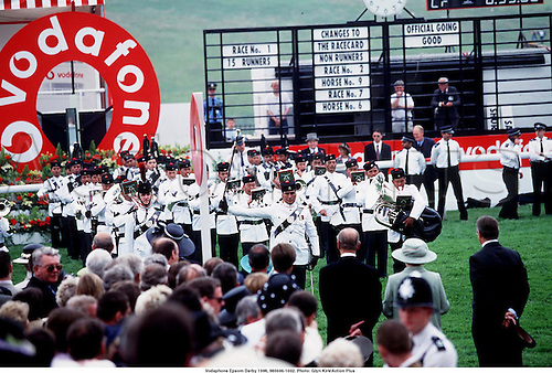 Band, Vodafone Epsom Derby 1998, 980606. Photo: Glyn Kirk/Action Plus...1998.horse racing.equestrian sports.1002....