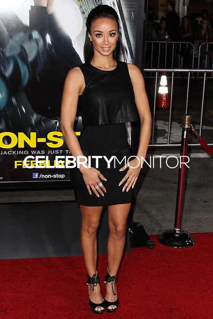 """WESTWOOD, CA, USA - FEBRUARY 24: Draya Michele at the World Premiere Of Universal Pictures And Studiocanal's """"Non-Stop"""" held at Regency Village Theatre on February 24, 2014 in Westwood, Los Angeles, California, United States. (Photo by Xavier Collin/Celebrity Monitor)"""