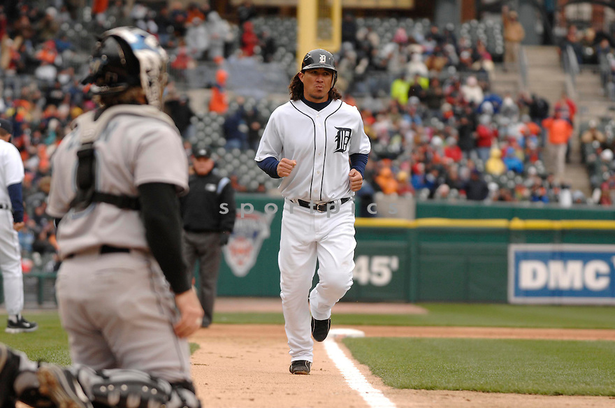 MAGGLIO ORDONEZ, of the Detroit Tigers during their game against the Toronto Blue Jays, on April 4, 2007 in Detroit, Michigan...Tigers win 10-9....DAVID DUROCHIK / SPORTPICS