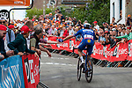 Petr Vakoc (CZE) Deceuninck-Quick Step on the Mur de Huy during the 2019 La Fl&egrave;che Wallonne running 195km from Ans to Mur de Huy, Belgium. 24th April 2019. Picture: Pim Nijland | Peloton Photos/Cyclefile<br /> <br /> All photos usage must carry mandatory copyright credit (Peloton Photos?cyclefile | Pim Nijland)