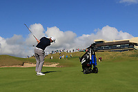 Ronan Mullarney (Galway) on the 18th fairway during the Final of the AIG Irish Amateur Close Championship 2019 in Ballybunion Golf Club, Ballybunion, Co. Kerry on Wednesday 7th August 2019.<br /> <br /> Picture:  Thos Caffrey / www.golffile.ie<br /> <br /> All photos usage must carry mandatory copyright credit (© Golffile | Thos Caffrey)