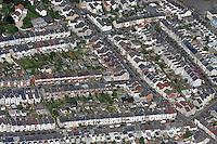 Aerial view of houses in Swansea