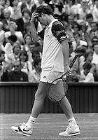 JOHN McENROE (USA) WIMBLEDON TENNIS CHAMPIONSHIPS 1989 PHOTO ROGER PARKER