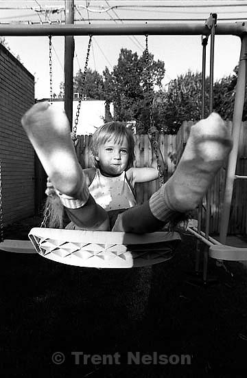 Krista Melbach swinging.<br />