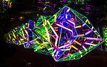 Vivid 2016 Fesitval light walk along the foreshore in Sydney, Australia
