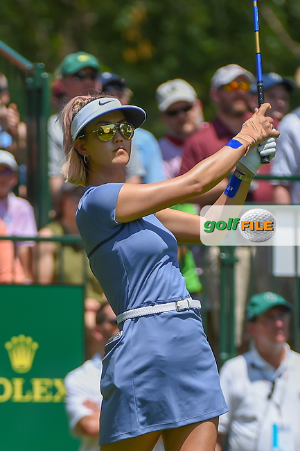 Michelle Wie (USA) watches her tee shot on 1 during round 3 of the U.S. Women's Open Championship, Shoal Creek Country Club, at Birmingham, Alabama, USA. 6/2/2018.<br /> Picture: Golffile | Ken Murray<br /> <br /> All photo usage must carry mandatory copyright credit (© Golffile | Ken Murray)