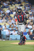 06/06/17 Los Angeles, CA:Washington Nationals catcher Matt Wieters #32 during an MLB game between the Los Angeles Dodgers and the Washington Nationals played at Dodger Stadium.
