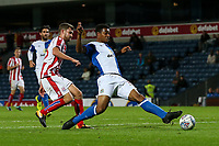 Blackburn Rovers' Joe Nuttall scores his side's first goal <br /> <br /> Photographer Andrew Kearns/CameraSport<br /> <br /> The EFL Checkatrade Trophy - Blackburn Rovers v Stoke City U23s - Tuesday 29th August 2017 - Ewood Park - Blackburn<br />  <br /> World Copyright &copy; 2018 CameraSport. All rights reserved. 43 Linden Ave. Countesthorpe. Leicester. England. LE8 5PG - Tel: +44 (0) 116 277 4147 - admin@camerasport.com - www.camerasport.com