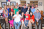 David Murphy, Ballyvourney seated centre who celebrated his 40th birthday with his family and friends in the Kerry Way Glenflesk on Saturday night