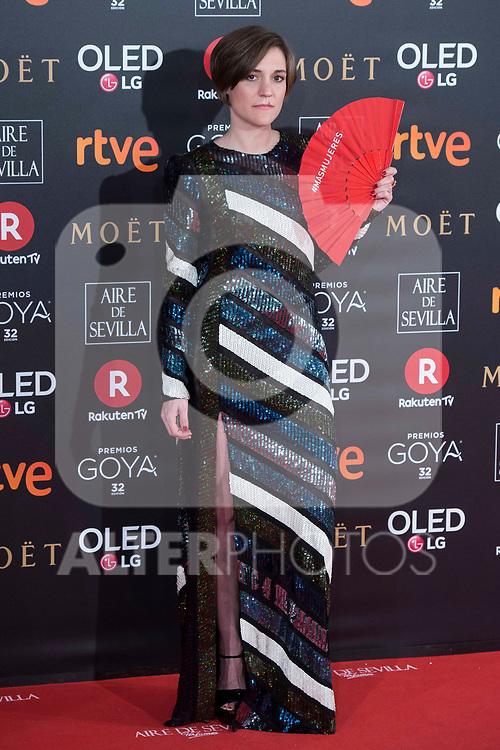 Carla Simon attends red carpet of Goya Cinema Awards 2018 at Madrid Marriott Auditorium in Madrid , Spain. February 03, 2018. (ALTERPHOTOS/Borja B.Hojas)