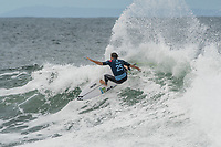 BELLS BEACH, Torquay, Victoria, Australia    (Tuesday, April 3, 2018) Frederico Morais (PRT) - Top seeds continue to fall at the Rip Curl Pro Bells Beach, Stop No. 2 on the World Surf League (WSL) Championship Tour (CT), after completing men&rsquo;s Rounds 3 and 4, and the women&rsquo;s Quarterfinals in four-to-six foot (1.2 - 2 metre) conditions. <br /> <br /> Today witnessed all but three WSL Championships dispatched with John John Florence (HAW), Joel Parkinson (AUS), Adriano de Souza (BRA), and Carissa Moore (HAW) out of the draw. Now, only Mick Fanning (AUS), Stephanie Gilmore (AUS), and Gabriel Medina (BRA) represent the class of elite World Champions heading into the Final Series of the iconic Rip Curl Pro Bells Beach event. <br /> <br /> Two-time, reigning WSL Champion Florence is out of the Rip Curl Pro Bells Beach after losing to compatriot Ezekiel Lau (HAW) in the opening heat of the day. In Round 3 Heat 7, Lau put the pressure on Florence by jostling for position. Lau&rsquo;s physical assertion seemed to throw Florence off his game as he struggled to find a wave of substance. Lau, on the other hand, looked confident and powerful in that heat as well as in Round 4, where he defeated Frederico Morais (PRT) and Conner Coffin (USA). <br /> <br /> Photo: joliphotos.com