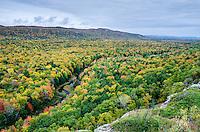 A sea of autumn color. Porcupine Mountains, Western U.P. of Michigan.