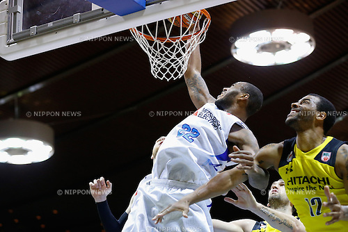 Amath M'Baye (Diamond Dolphins), <br /> FEBRUARY 14, 2015 - Basketball : <br /> National Basketball League &quot;NBL&quot; 2014-2015 <br /> between Hitachi Sunrockers Tokyo 97-88 Mitsubishi Electric Diamond Dolphins <br /> at 2nd Yoyogi Gymnasium, Tokyo, Japan. <br /> (Photo by AFLO SPORT) [1205]