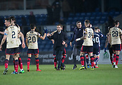 2nd December 2017, Global Energy Stadium, Dingwall, Scotland; Scottish Premiership football, Ross County versus Dundee; Dundee manager Neil McCann congratulates Dundee's Faissal El Bakhtaoui at full time