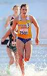 SIOUX FALLS, SD - MAY 2:  Kristen Anderson from South Dakota State University comes out of the water during the Steeplechase Friday afternoon at the Howard Wood Dakota Relays. (Photo by Dave Eggen/Inertia)