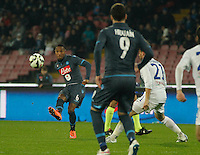 Jonathan de Guzman  during the Italian Serie A soccer match between   SSC Napoli and Atalanta  at San Paolo  Stadium in Naples ,March 22 , 2015<br /> <br /> <br /> incontro di calcio di Serie A   Napoli -Atalanta allo  Stadio San Paolo  di Napoli , 22  Marzo 2015