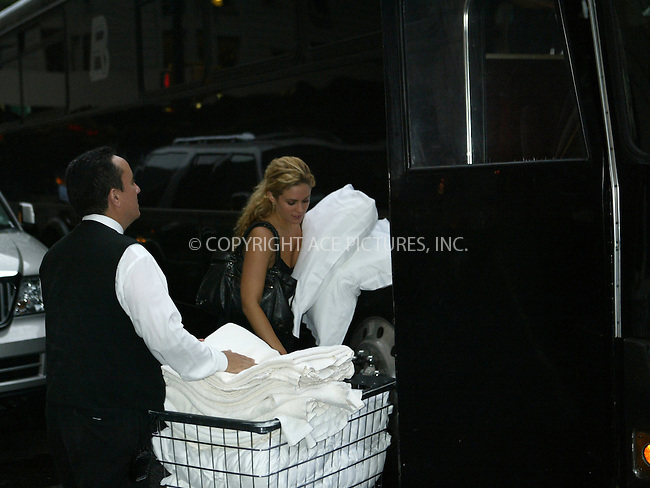 WWW.ACEPIXS.COM . . . . .  ....NEW YORK, SEPTEMBER 26, 2005....After Jessica Simpson's best friend Cacee Cobb loads up the bus with linens from their Midtown hotel, Jessica dons an outfit and heads Philadelphia to the studios of QVC.....Please byline: JENNIFER L GONZELES-ACE PICTURES.... *** ***..Ace Pictures, Inc:  ..Craig Ashby (212) 243-8787..e-mail: picturedesk@acepixs.com..web: http://www.acepixs.com
