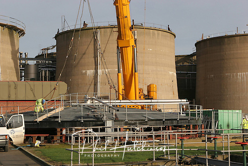 12.01.2005, Stoke Bardolf STW, Nottingham shire, England, UK...Photographs of refurbishment of Stoke Bardolf STW commissioned Morgan Est, the works main contractor..Severn Trent Water Ltd operates a large Sewage Treatment Works at Stoke Bardolph. The works occupy approximately 50 hectares of land on the edge of the built up area of Gedling/Carlton, on the eastern edge of Nottingham, approximately 6 kilometres from the city centre. The site lies wholly within the Green Belt and the peripheral areas of the works are in Flood Zone 2..The treatment works are characterised by a large array of tanks, bays, pumping equipment and control buildings, typically of concrete construction. The cylindrical tanks forming the anaerobic digester unit are particularly tall - in excess of 10 metres high - which are located centrally within the site...Agricultural land largely surrounds the site to the north, east and south. The site is bordered by the A612 Colwick Loop Road and the Nottingham - Lincoln railway line to the west, beyond which is a sports ground and an area of open scrub land on the edge of Carlton...Stoke Bardolph village lies 1km to the east of the works via Stoke Lane, with the River Trent just beyond...The Sewage Treatment Works is connected to the River Trent by means of a works water channel taking the final discharge water, which enters the river at an outfall just north of Stoke Bardolph village.