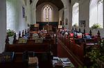 Interior of village parish church of Saint Peter, Creeting St Peter, Suffolk, England, UK
