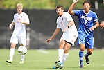 04 September 2011: NCSU's Nazmi Albadawi (10) and UCSB's Luis Silva (7). The University of California Santa Barbara Broncos defeated the North Carolina State University Wolfpack 1-0 at Koskinen Stadium in Durham, North Carolina in an NCAA Division I Men's Soccer game.