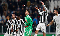 Calcio, Serie A: Juventus - Genoa, Torino, Allianz Stadium, 22 gennaio 2018. <br /> Juventus' players celebrate after winning 1-0 the Italian Serie A football match against Genoa at Torino's Allianz stadium, January 22, 2018.<br /> UPDATE IMAGES PRESS/Isabella Bonotto