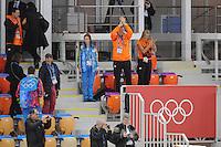 LYMPICS: SOCHI: Adler Arena, 09-02-2014, 3000 m Ladies, Koning Willem-Alexander, Koningin Maximá, ©foto Martin de Jong
