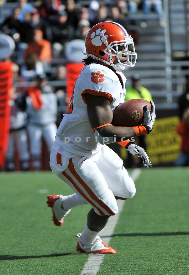 Oct 30, 2010; Clemson RB Andre Ellington (23)  during  game against Boston College.Boston College won 16-10 at Alumni Stadium Chestnut Hill, MA. Mandatory Credit: Tomasso DeRosa