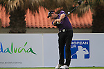 Oliver Wilson (ENG) in action on the 1st tee during Day 2 Friday of the Open de Andalucia de Golf at Parador Golf Club Malaga 25th March 2011. (Photo Eoin Clarke/Golffile 2011)
