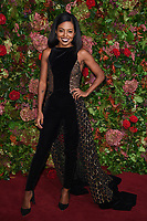 Adrienne Warren<br /> arriving for the 2018 Evening Standard Theatre Awards at the Theatre Royal Drury Lane, London<br /> <br /> ©Ash Knotek  D3460  18/11/2018