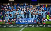 8th March 2020; Murrayfield Stadium, Edinburgh, Scotland; International Six Nations Rugby, Scotland versus France; The Scotland team with the Auld Alliance Trophy