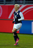 Offenbach, Germany, Friday, April 05 2013: Womans, Germany vs. USA, in the Stadium in Offenbach,  Megan Rapinoe (USA) celebrates the goal.