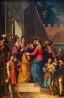 1596 oil painting of the Visitation (Vistitazione) by Jacopo Ligozzi , Cattedrale di San Martino,  Duomo of Lucca, Tunscany, Italy,