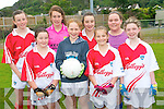 Enjoying the GAA Cúl Camps in Glenflesk last week. .Front L-R Lauren Finnan, Katie Faulds, Julianne Courtney and Amy O'Brien. .Back L-R Aoife Fleming, Emma Dineen, Sarah Finnan and Michelle Murphy.