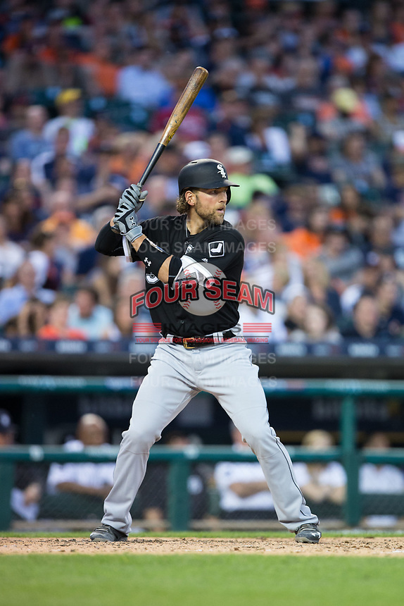 Kevan Smith (36) of the Chicago White Sox at bat against the Detroit Tigers at Comerica Park on June 2, 2017 in Detroit, Michigan.  The Tigers defeated the White Sox 15-5.  (Brian Westerholt/Four Seam Images)