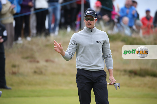 Henrik Stenson (SWE) holds for par on the 7th during Round Three of the 2016 Aberdeen Asset Management Scottish Open, played at Castle Stuart Golf Club, Inverness, Scotland. 09/07/2016. Picture: David Lloyd | Golffile.<br /> <br /> All photos usage must carry mandatory copyright credit (&copy; Golffile | David Lloyd)