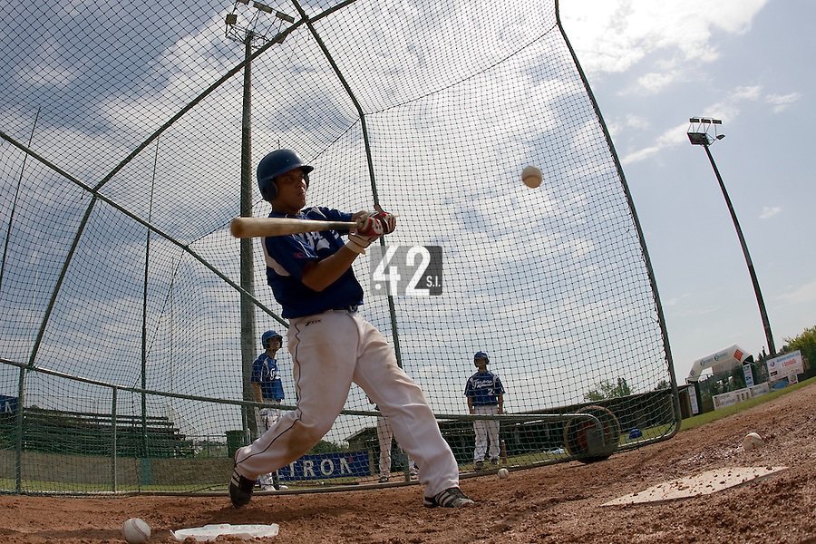 BASEBALL - GREEN ROLLER PARK - PRAGUE (CZECH REPUBLIC) - 25/06/2008 - PHOTO: CHRISTOPHE ELISE.BORIS MARCHE (TEAM FRANCE)