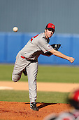 Illinois State Redbirds pitcher Brad Sorkin #22 during a game vs. Bowling Green at Chain of Lakes Park in Winter Haven, Florida;  March 6, 2011.  Illinois State defeated Bowling Green 18-10.  Photo By Mike Janes/Four Seam Images