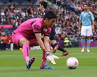 Men's Olympic Football match Spain v Japan on 26.7.12...Shuici Gonda of Japan, during the Spain v Japan Men's Olympic Football match at Hampden Park, Glasgow............