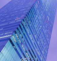 Upward View of the Citigroup Center (formerly known as the Citicorp Building) on an Overcast Evening, Midtown Manhattan, New York City, New York State, USA,