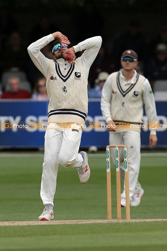 Imran Qayyum in bowling action for Kent during Essex CCC vs Kent CCC, Specsavers County Championship Division 1 Cricket at The Cloudfm County Ground on 29th May 2019
