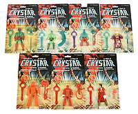 BNPS.co.uk (01202 558833)<br /> Pic: Vectis/BNPS<br /> <br /> PICTURED: 1982 The Saga of Crystar figures<br /> <br /> One man's epic collection of retro eighties' toys has been sold for £220,000 by his family following his death.<br /> <br /> Dr Cornel Flemming amassed more than 1,600 toy action figures and cars for franchises like Star Wars, He-Man and Transformers. <br /> <br /> The market for nostalgic toys is booming at the moment which is reflected in the prices some of the toys achieved.<br /> <br /> An unopened pack of three He-Man figures featuring He-Man, Teela and Ram Man made by Mettel sold for an incredible £12,000.
