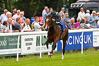 Winner of The Bathwick Car & Van Hire Novice Auction Stakes (Plus 10)  Urban Icon ridden by Tom Marquand and trained by Richard Hannon  during Afternoon Racing at Salisbury Racecourse on 12th June 2018