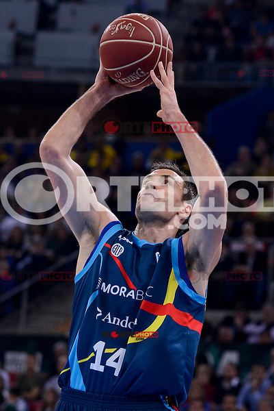 Morabanc Andorra's Oliver Stevic during Quarter Finals match of 2017 King's Cup at Fernando Buesa Arena in Vitoria, Spain. February 16, 2017. (ALTERPHOTOS/BorjaB.Hojas) /Nortephoto.com