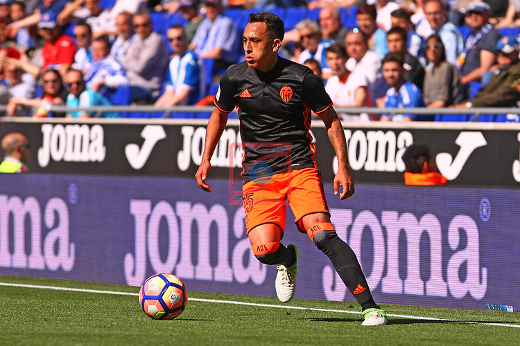 League Santander 2016/2017. Game: 37.<br /> RCD Espanyol vs Valencia CF: 0-1.<br /> Fabian Orellana.