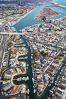 Aerial Stock Photo Of Balboa Coves And North Newport Beach